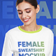 Female Sweatshirt Mockups Vol.1 - GraphicRiver Item for Sale