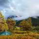 Mountain peak in fog in Innerdalen - PhotoDune Item for Sale