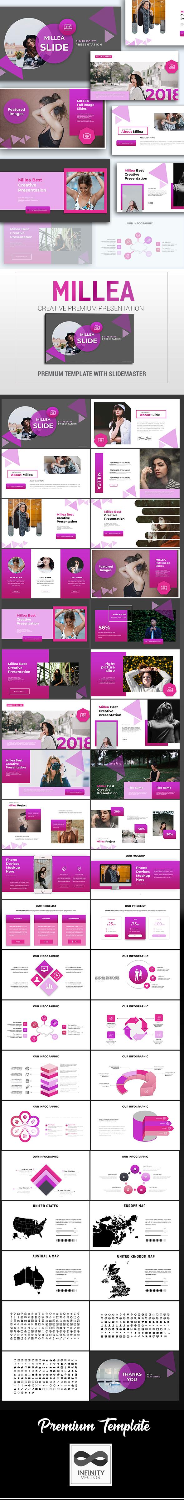 Millea Creative Presentation - PowerPoint Templates Presentation Templates