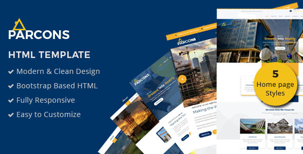 Parcons - Construction HTML Template - Business Corporate