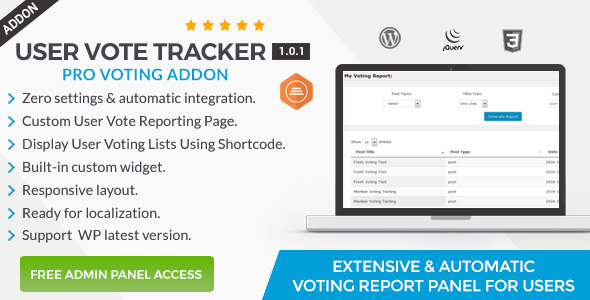 User Vote Tracker - Pro Voting Manager Addon