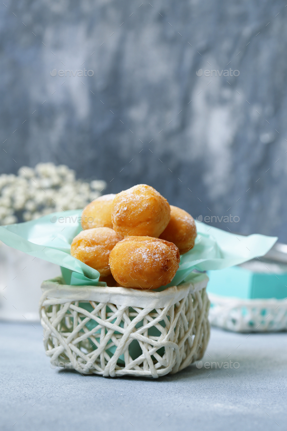 Cottage Cheese Donuts Balls - Stock Photo - Images