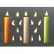 Set of Burning Candles with Different Flames. - GraphicRiver Item for Sale