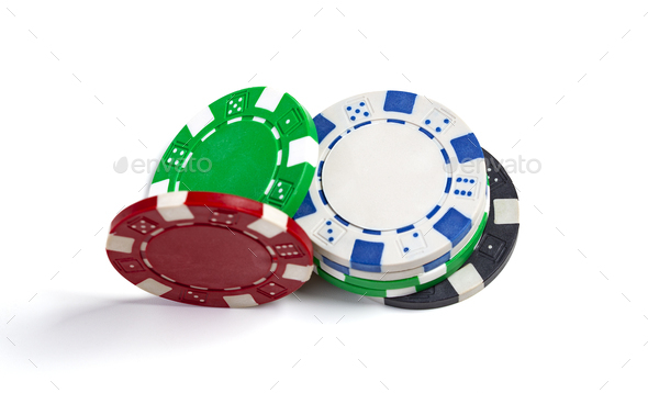 Coloured Casino Chips - Stock Photo - Images