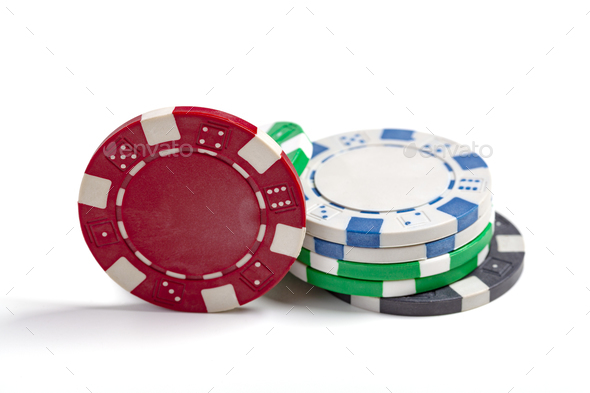 Isolated Casino Chips - Stock Photo - Images