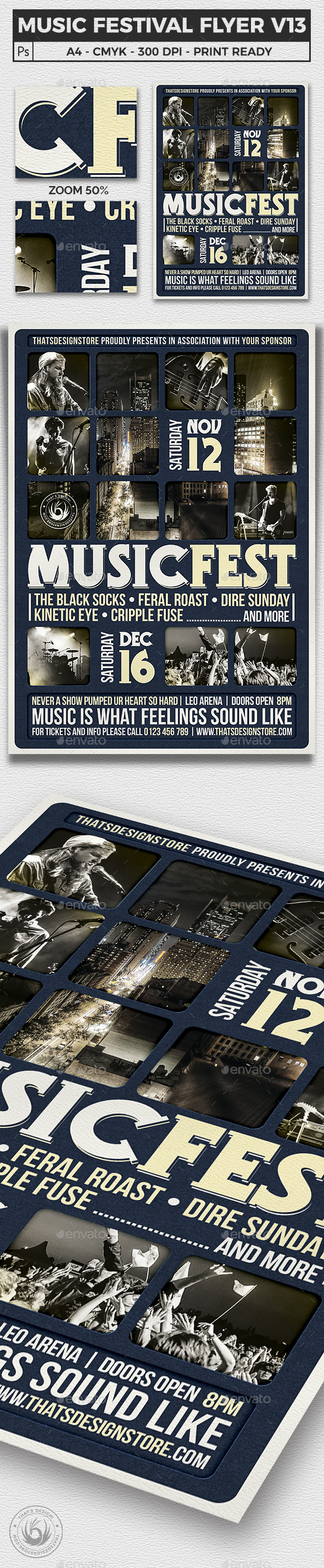 Music Festival Flyer Template V13 - Concerts Events