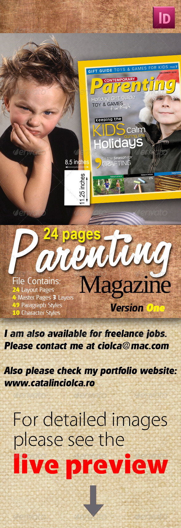 24 Pages Parenting Magazine Version One - Magazines Print Templates