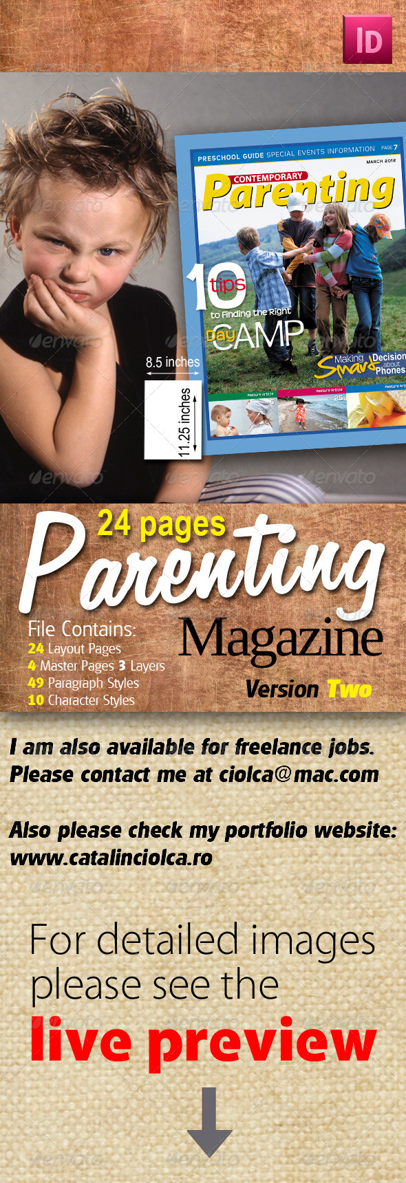 24 Pages Parenting Magazine Version Two - Magazines Print Templates