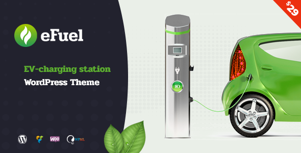 Efuel - Electric Vehicle Charging Station WordPress Theme