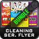 Cleaning Service Flyer Bundle