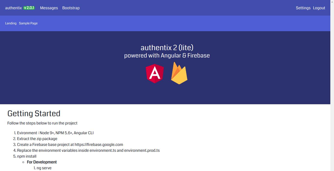 Authentix - Angular 7 & Firebase Starter + Node js Admin Panel