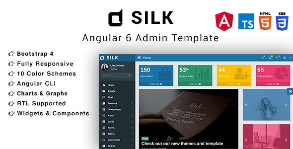 Silk - Angular 6 Bootstrap 4 Admin Template - Admin Templates Site Templates