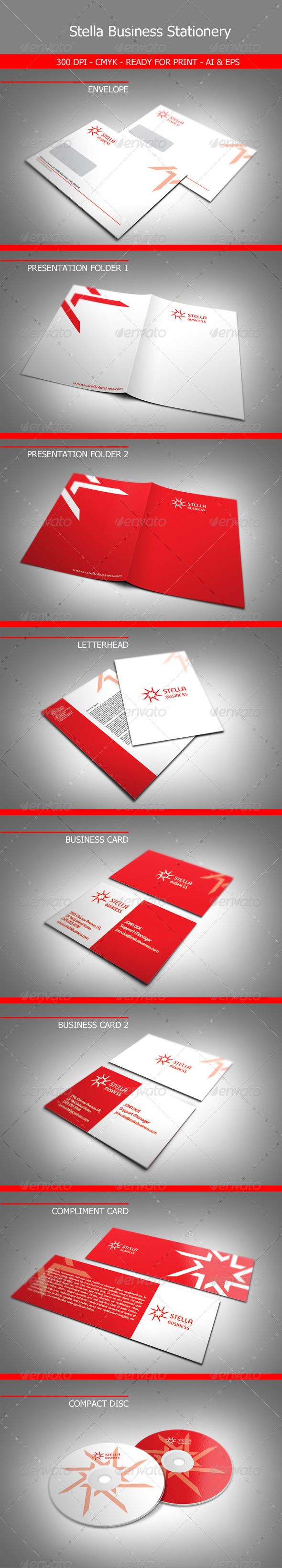 Stella Business Stationery - Stationery Print Templates