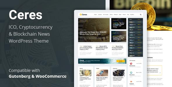 Ceres - Cryptocurrency & Blockchain News WordPress Theme