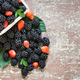 Mix of delicious fruits in a wooden basket - PhotoDune Item for Sale