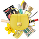 Vector Yellow Fashion Accessories Concept