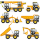 Vector Yellow Construction Machinery Set 2