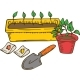 Potting Flower Compositiom - GraphicRiver Item for Sale