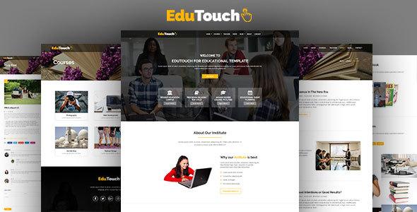 EduTouch - Education Responsive Template - Nonprofit Site Templates