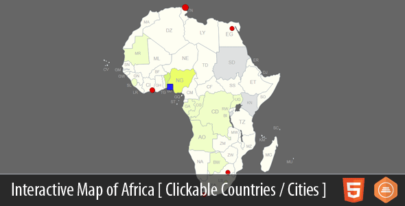 Interactive Map of Africa - CodeCanyon Item for Sale