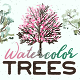 Watercolor Trees Animated Pack - VideoHive Item for Sale