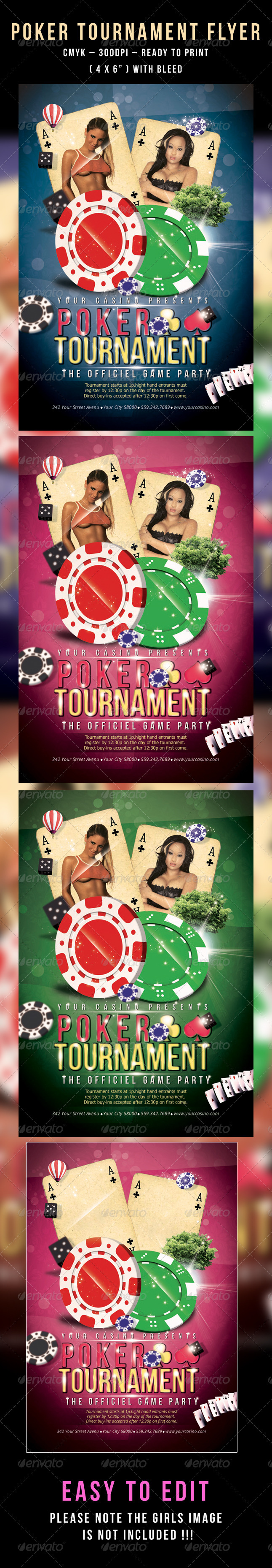 Poker Tournament Flyer - Flyers Print Templates
