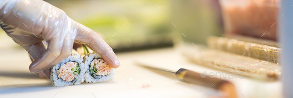 Making sushi - Stock Photo - Images