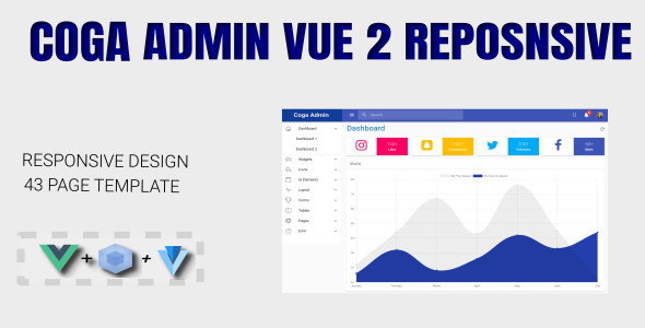 Coga - Admin Vue 2 WebPack Responsive + Vuetify