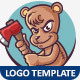 Crazy Bear Logo Template - GraphicRiver Item for Sale