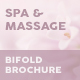 Spa and Massage Bifold / Halffold Brochure - GraphicRiver Item for Sale