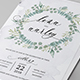 Eucalyptus Wedding Invitation - GraphicRiver Item for Sale