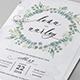 Eucalyptus Wedding Invitation - GraphicRiver Item for Sale