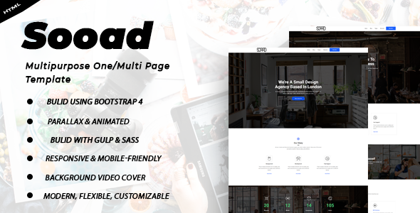 Sooad - One Page Template