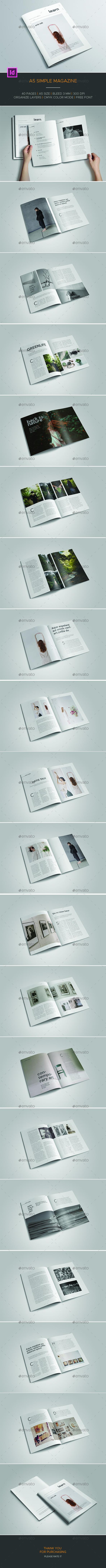 A5 Simple Magazine - Magazines Print Templates