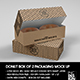 Box of 2 Donut / Pastry Box Packaging Mockup - GraphicRiver Item for Sale