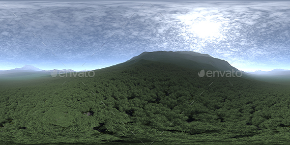 Noon Hill HDRI Sky - 3DOcean Item for Sale