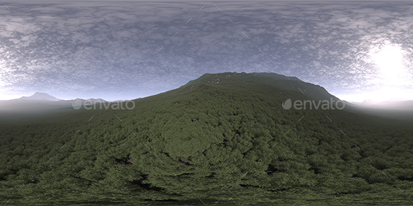 Late Afternoon Hill HDRI Sky - 3DOcean Item for Sale