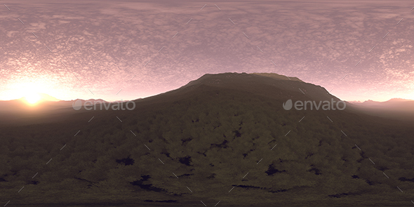 Late Evening Hill HDRI Sky - 3DOcean Item for Sale