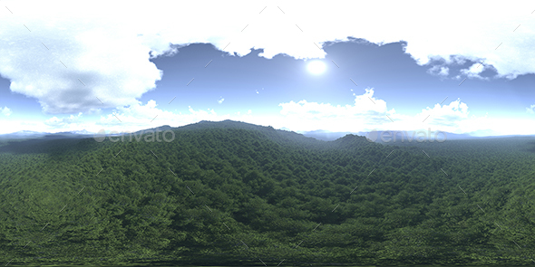 Before Noon Forest HDRI Sky - 3DOcean Item for Sale