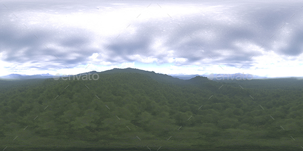 Late Afternoon Forest HDRI Sky - 3DOcean Item for Sale