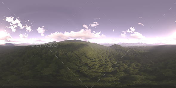 Early Evening Forest HDRI Sky - 3DOcean Item for Sale
