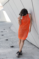 Young Indian woman posing in an urban context - PhotoDune Item for Sale