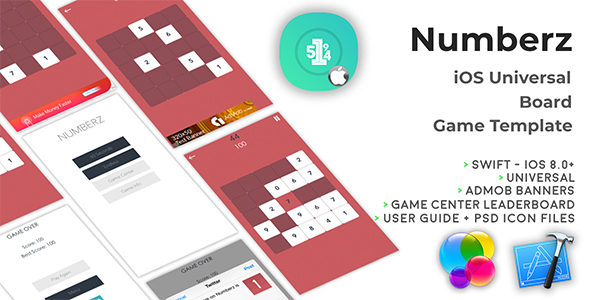 NUMBERZ | iOS Universal Board Game Template (Swift)