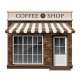 Exterior Coffee Boutique Shop or Cafe Brick - GraphicRiver Item for Sale
