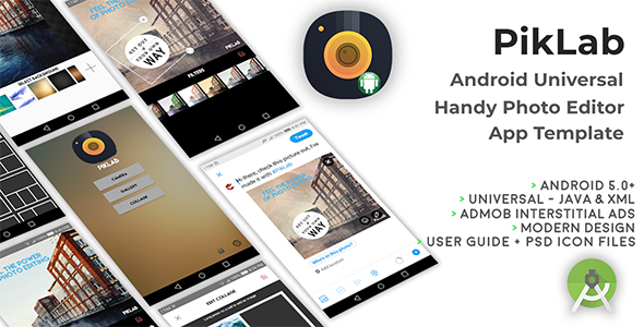 PikLab | Android Universal Photo Editor App Template - CodeCanyon Item for Sale