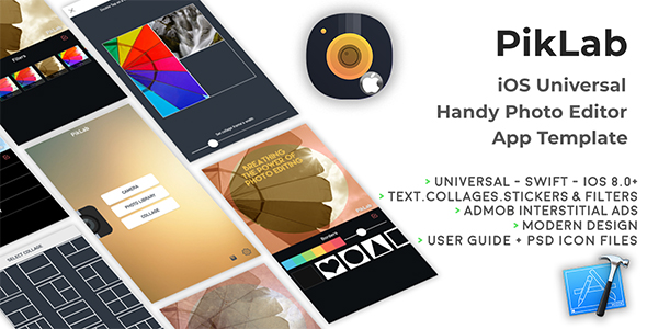 PikLab | iOS Universal Photo Editor App Template (Swift) - CodeCanyon Item for Sale