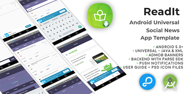 ReadIt | Android Universal Social News App Template - CodeCanyon Item for Sale