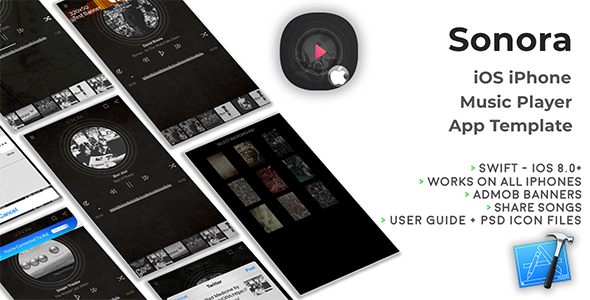 SONORA | iOS iPhone Music Player App Template (Swift) - CodeCanyon Item for Sale