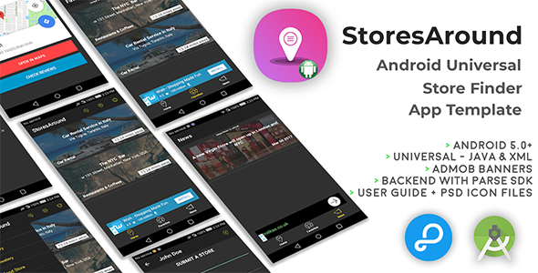 StoresAround | Android Universal Store Finder App Template - CodeCanyon Item for Sale