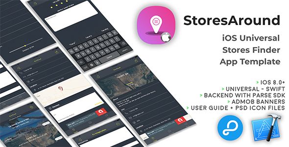StoresAround | iOS Universal Store Finder App Template (Swift) - CodeCanyon Item for Sale